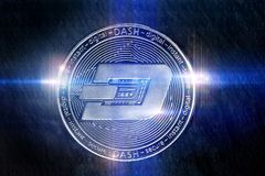 Dash coin digital lights composing Stock Images