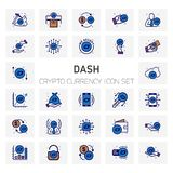 Dash Crypto Currency icons set. For web design and application interface, also useful for infographics. Vector illustration Royalty Free Stock Photography