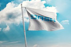 DASH crypto network. Dash is an open source cryptocurrency and is a form of decentralized autonomous organization run by a subset of users, called `masternodes royalty free stock images
