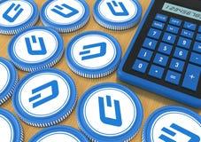 dash Offre sur l'échange avec la crypto devise Extraction o Images libres de droits