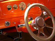 Dash of Orange. Dashboard on antique 1938 coupe Royalty Free Stock Photography
