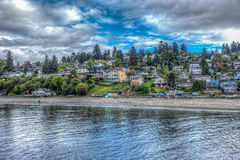 Dash Point Homes HDR 2. An HDR image of homes in Dash Point, Washington stock images