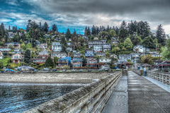 Dash Point Homes HDR royalty free stock photo