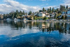 Free Dash Point Waterfront Homes 2 Royalty Free Stock Photos - 112904828