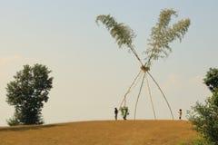 Dashain huśtawka w Nepal zdjęcie stock