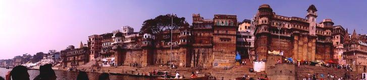 Dashashwamedh Ghat]瓦腊纳西 库存图片
