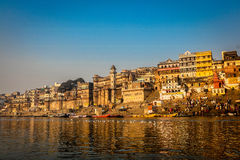 Dashashwamedh Ghat royaltyfria foton