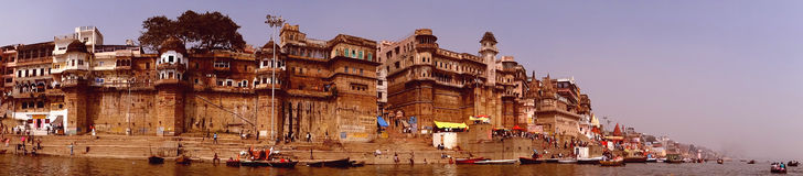 Dashashwamedh Ghat] Varanasi. Dashashwamedh ghat is one of the oldest, most spectacular and important ghat, located at the bank of the river Gange near to the Royalty Free Stock Photography