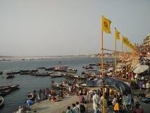 Dashaswamedh Ghat Στοκ Εικόνες