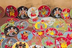 Dashavatara kort, konstverk, bishnupur, Indien royaltyfri fotografi
