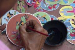 Dashavatara kort, konstverk, bishnupur, Indien Royaltyfria Bilder