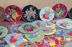 Dashavatara kort, konstverk, bishnupur, Indien Arkivbilder
