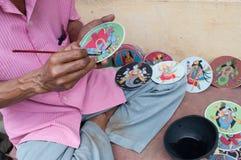 Dashavatara kort, konstverk, bishnupur, Indien Royaltyfria Foton