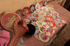 Dashavatarakaarten, kunstwerk, bishnupur, India Stock Foto