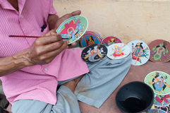 Dashavatarakaarten, kunstwerk, bishnupur, India Royalty-vrije Stock Foto's