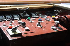 Dashboard. Of an old locomotive royalty free stock photo