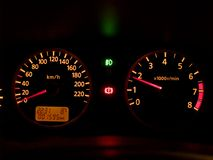 Dashboard [2]. Car's illuminated dashboard Royalty Free Stock Image