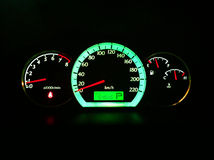 Dashboard. Car dashboard in a car on but steady Royalty Free Stock Photos