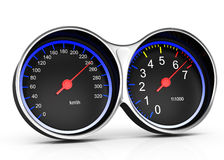 Dashboard. On white background. 3d rendered image Stock Photos