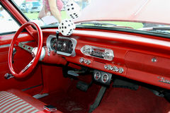 Dashboard. A picture of the dashboard of a vintage car Stock Photos