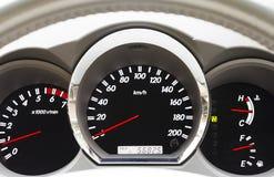Dashboard. Modern car dashboard closeup ,ready to drive Royalty Free Stock Photos