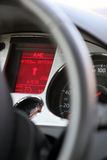 Dashboard. Of a new car, display with satellite navigation guidelines can be seen Royalty Free Stock Image