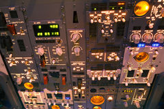 Dashboard of an aircraft Royalty Free Stock Images