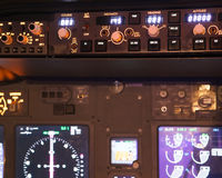 Dashboard of an aircraft Stock Images