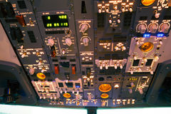 Dashboard of an aircraft Royalty Free Stock Photo