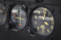 Dashboard altimeter detail of an airplane Stock Photography