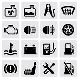 Dashboard and auto icons vector illustration