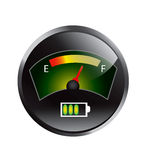 Dashboard battery  illustration eps10 Royalty Free Stock Photos
