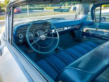 Dashboard of 1959 Buick Invicta royalty free stock image
