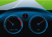 Dashboard car Stock Photography