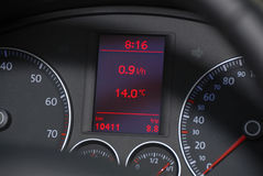 Dashboard of a car Stock Photo
