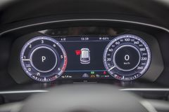 Dashboard in the car. Close up Stock Photography