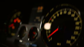 Dashboard in the car stock video footage