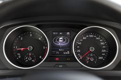 Dashboard in car. Close up Royalty Free Stock Image