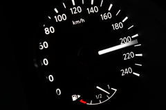 Dashboard of car going fast Royalty Free Stock Photos