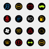Dashboard car icons Royalty Free Stock Photo