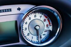 Dashboard in a car Stock Photo