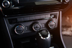 Dashboard, car interior Stock Images