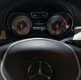 Dashboard of the car Mercedes-Benz Royalty Free Stock Image