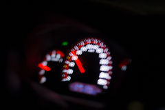 Dashboard car in the night Stock Image