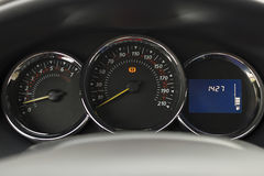 The dashboard of the car. Stock Image
