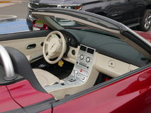 Dashboard of a Chrysler Crossfire convertible. Lima Stock Photo