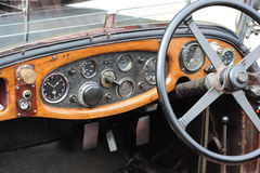 Dashboard of classic car Stock Images