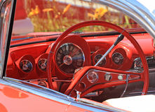 Dashboard of Classic car,left-hand drive. Dashboard of a classic car, at Beach Hop Waihi, New Zealand. Cassic cars from all over New Zealand take part in this Stock Photography