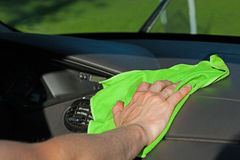 Dashboard cleaning Royalty Free Stock Images