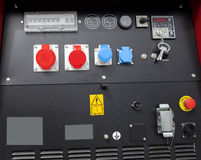 Dashboard and controls for construction machine Royalty Free Stock Photo